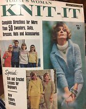 Vintage 1960s Today's Woman KNIT-IT No. 1 Knitting Pattern Magazine 1965 Rare!