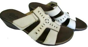 Clark's Bendables 60486 Womens Size 8M White Shoes Sandals Flats