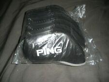 BRAND NEW Ping Iron Head Cover Neoprene Set Of 10 PCS PACK USA SELLER BLACK