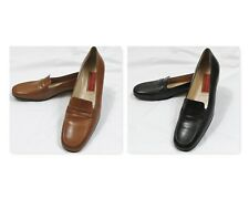 Cole Haan 'Lezlie' Lot of 2 pair Women's Loafers Size 9 AA Brown and Black