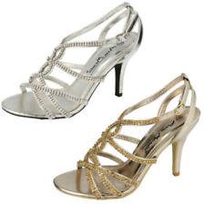 Scarpe da donna stiletto casual in oro