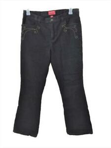 Chaps jeans size 12 black with beads 4 pockets womens 34 x 31