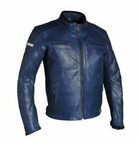 Richa Daytona Mens Blue Leather Motorcycle Jacket NEW