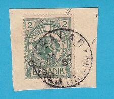 Frammento ITALIA COLONIE SOMALIA 1906  Elefante e Leone usato 5 su 2 BALAD PIECE
