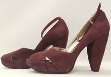 NINE WEST ladies womens purple suede platform sandals shoes size 7 EU 40 US 9W
