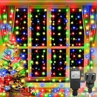 240~480 LED CURTAIN LIGHTS BRIGHT CHASER BACKDROP PARTY FAIRY XMAS WEDDING TIMER