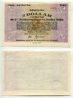 2 Dollar = 8,40 Mark Gold Bremen 7.11.1923 Reihe 1, Erhaltung II