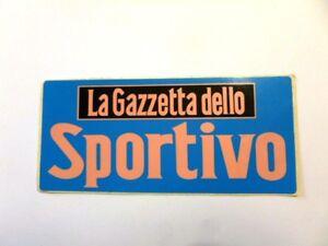VECCHIO ADESIVO / Old Sticker LA GAZZETTA DELLO SPORT (cm 15 x 7)