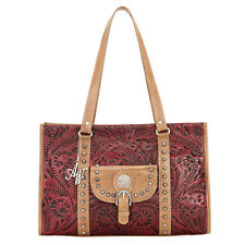 American West Nomad Zip-Top Travel Tote Handbag Pomagranate