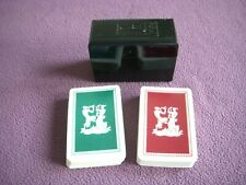 KEM Plastic Playing Cards Red & Green Double Decks COMPLETE
