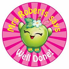 80 Pegatinas De Recompensa Profesor Personalizado alumnos Apple Rosa