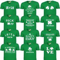 Scollo a V San Patrizio Giorno T-Shirt Divertente Irlanda Leprechaun Irish Drunk