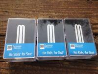 Seymour Duncan SHR-1 Strat Hot Rails Set White 2x SHR-1n / 1x SHR-1b Humbucker