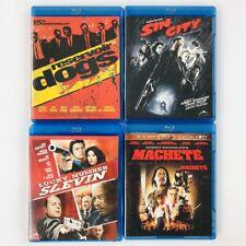 Crime Thriller Blu-Ray Lot of 4 - Sin City - Machete - Reservoir Dogs