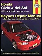 Haynes HONDA CIVIC DEL SOL 92-95 CX DX EX LX Si S Owners Service Manual Handbook