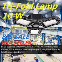 60W Deformable Tri-Fold Lamp LED Adjustable Three Light Garage High Bay Light C