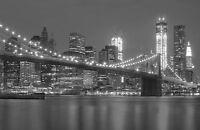 A3 SIZE Black & White - New Manhattan Skyline, New York City Poster Print Art