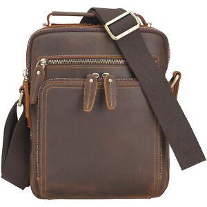Men Genuine Leather Messenger Bag Handbag Shoulder Bag Office Bag Crossbody Bag