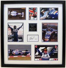 Damon HILL SIGNED Autographed FRAMED Formula 1 Display COA AFTAL