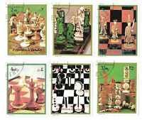 FUJERIA # 1410-15 CHESS SETS 6 DIFFERENT WORLDWIDE STYLES