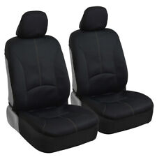 Black Waterproof Neoprene Car Seat Covers fits Armrests w/ Gray Stitching