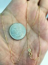 """14k Solid Yellow Gold Classic Box Necklace Pendant Chain 18"""" BEST PRICE ON EBAY"""