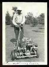 Vintage 1935 - early 1940's Jacobson Lawnmower Sturdex Lawn Mower Cutter Photo