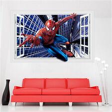 3D Hot Waterpoof Spiderman Wall Sticker Room Decor Cartoon Mural Art  Decal 3D