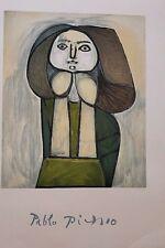 """Picasso """"Portrait De Femme A La Robe Verte"""" Limited Edition"""