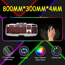 800x300x4 USB LED Gaming Maus Pad Laptop Verdickung PC XXL RGB Bunte Mauspad