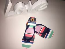 Kate Spade Women's Sandals Flip Flop New York Striped Multi-Color Size 7 NEW
