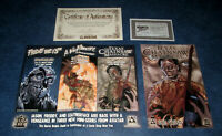 TEXAS CHAINSAW MASSACRE THE GRIND 1 signed lot PLATINUM  BRIAN PULIDO COA AVATAR