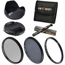 K&F Concept 67mm HD Slim Lens Filter Kit Set UV CPL ND4 +Lens Cleaning Pen Case