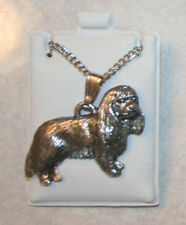 Cavalier King Charles Spaniel Fine Pewter Pendant Chain Necklace Usa Made