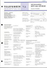 Telefunken Original Service Manual für STP 1 hifi / CP 20 hifi