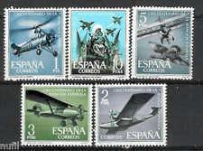 Spain Edifil # 1401/1405 ** MNH Set  50 Aniv. de la Aviacón Española