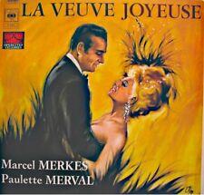 MARCEL MERKES/PAULETTE MERVAL/BESSIERE la veuve joyeuse LEHAR LP CBS EX++