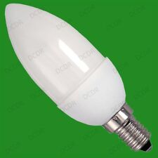 8x 7W Low Energy CFL Micro Candle Eco Friendly Light Bulbs, SES, E14, Lamps