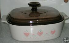 --> Corning  FOREVER YOURS 1.5 Liter Casserole & Lid