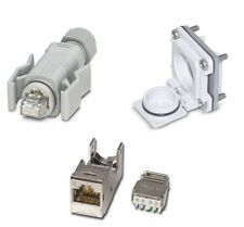 IP67 Waterproof RJ45 Cat6 Cable End Plug and Panel Mount Network Socket Cat 6