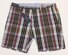 Men's POLO RALPH LAUREN Colors Madras Plaid Shorts 40 NWT NEW Slim Fit HOT!!