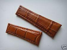 Genuine Leather Band Strap bracelet (FITS) Rolex DAYTONA 20mm x16mm milk brown