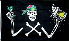 PIRATE with BEER FLAG 5' x 3' Skull Halloween Party Oktoberfest Festival Bar