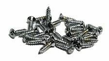 "#3 X 3/8"" (9.5mm) Pickguard/Backplate screws for Gibson guitars Qty 25 - Chrome"