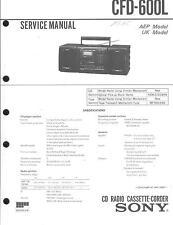 Sony Original Service Manual  für CFD-600 L
