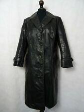Women's Vintage 1940'S German Horsehide Leather Trench coat Size UK 12