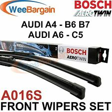 AUDI A4 and A6 NEW Genuine BOSCH A016S Aerotwin Front Wiper Blades Set