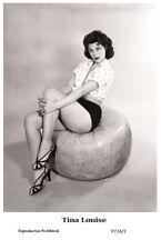 TINA LOUISE - Film star Pin Up PHOTO POSTCARD - P724-2 Swiftsure Postcard