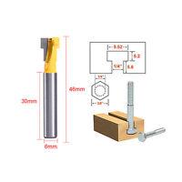 "9.5mm T Slot Bit Drill Press 3/8"" Wood Keyhole Key Hole Cutter Bottom Router"