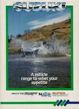 Suzuki 1986 UK Market Foldout Sales Brochure Alto Swift SJ410 SJ413 SuperCarry